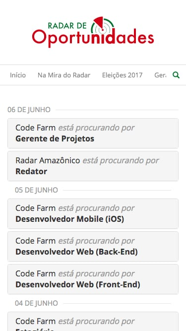 Radar de Oportunidades